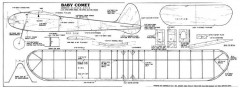 Baby Comet model airplane plan