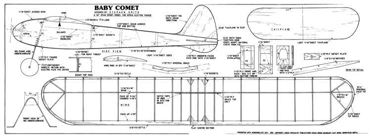 Baby Comet model airplane plan