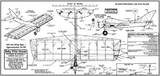 Baby Flight Streak model airplane plan