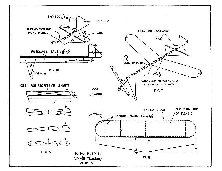 Baby ROG 1927 model airplane plan