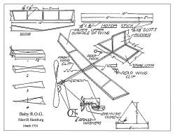 Baby ROG 1934 model airplane plan