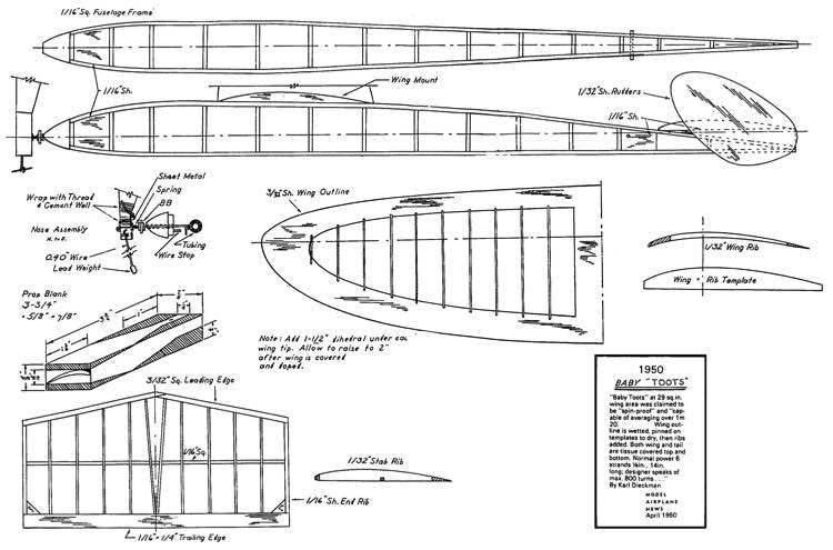 Baby Toots model airplane plan
