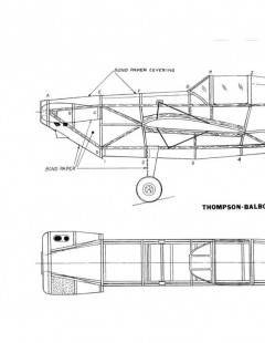 Balboni model airplane plan