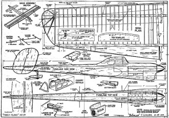 Ballerina CL model airplane plan