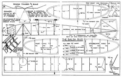 Balsa Bug model airplane plan