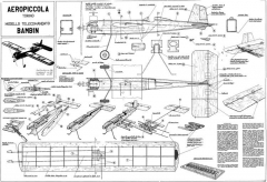 Bambin CL 595mm model airplane plan
