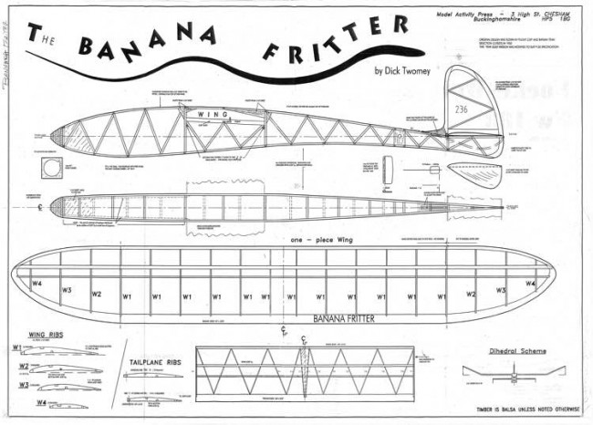 Banana Fritter model airplane plan
