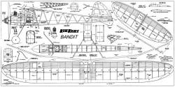 Bandit kk model airplane plan