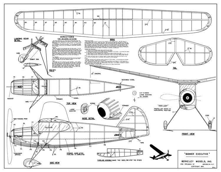 Banner Executive model airplane plan