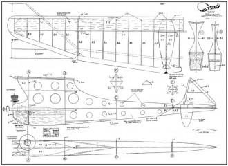 Banshee Astral 50in model airplane plan