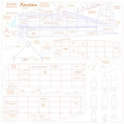Bantam KK one sheet model airplane plan