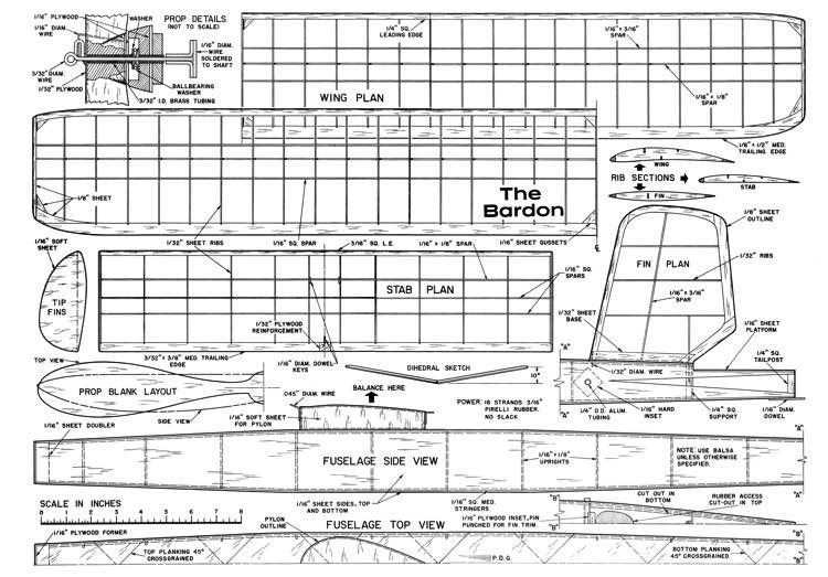 Bardon-MAN-02-59 model airplane plan