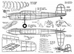 Barracuda model airplane plan
