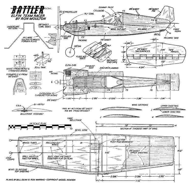 Battler model airplane plan