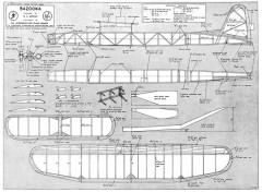 Bazooka Rubber 1950 model airplane plan