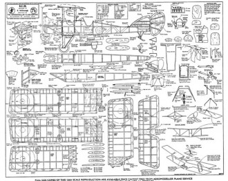 Be2E model airplane plan