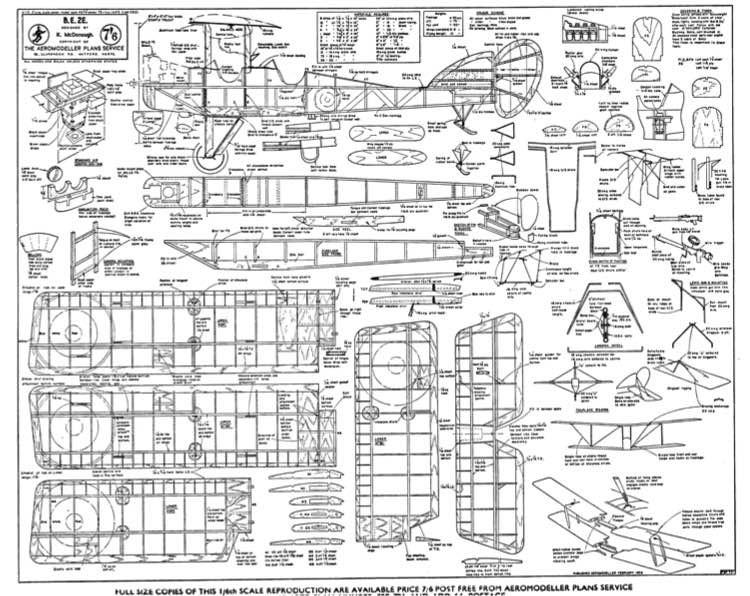 Be2E model airplane plan