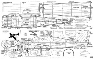 Beagle Pup model airplane plan