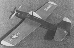 Bearcat F8F-1 model airplane plan