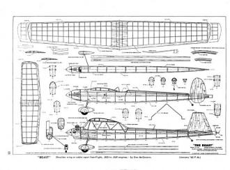 Beast model airplane plan