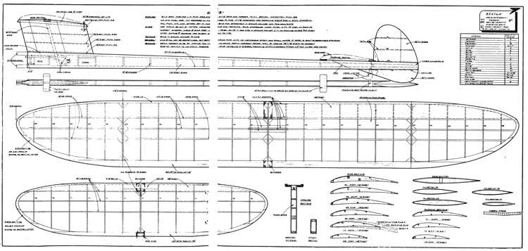 Beatnik (Jim Baguley) model airplane plan