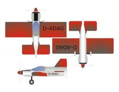 BedeBD-8-Peanut-Arno-Diemer-vec model airplane plan