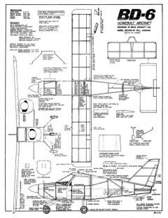 Bede BD-6 model airplane plan