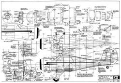 Beechcraft D-17 model airplane plan