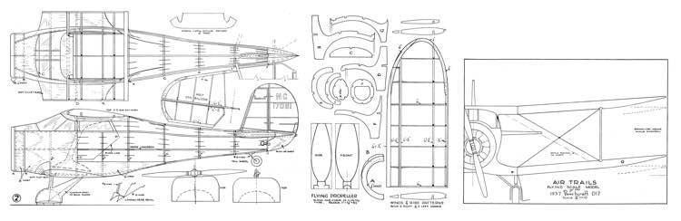 1937 Beechcraft D17 Staggerwing model airplane plan