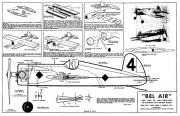 Bel Air model airplane plan
