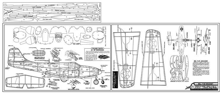 Bell P-59 Airacomet model airplane plan