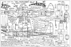 Bell Aircobra 25in Towner model airplane plan