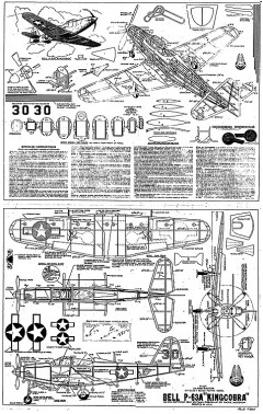 Bell P-63A Kingcobra whitman model airplane plan