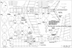 Bell X-5 model airplane plan