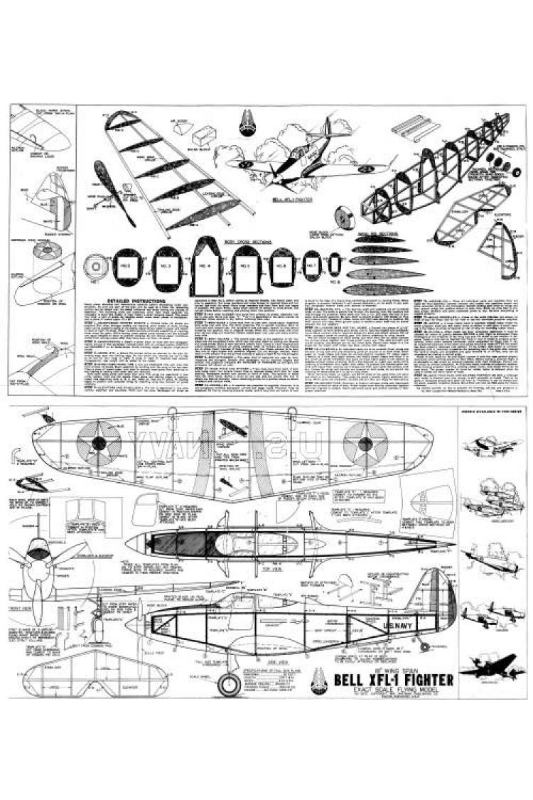 Bell XFL-1 Ace Whitman model airplane plan