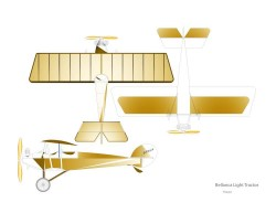 Bellanca-Light-Tractor-Peanut-Arno-Diemer-vec model airplane plan