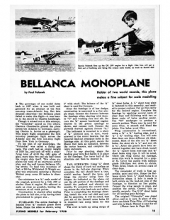 Bellanca model airplane plan