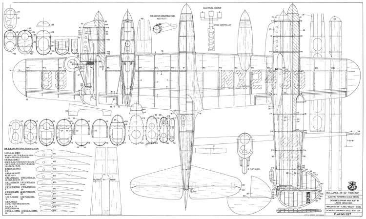 Bellanca 28-92 Trimotor model airplane plan