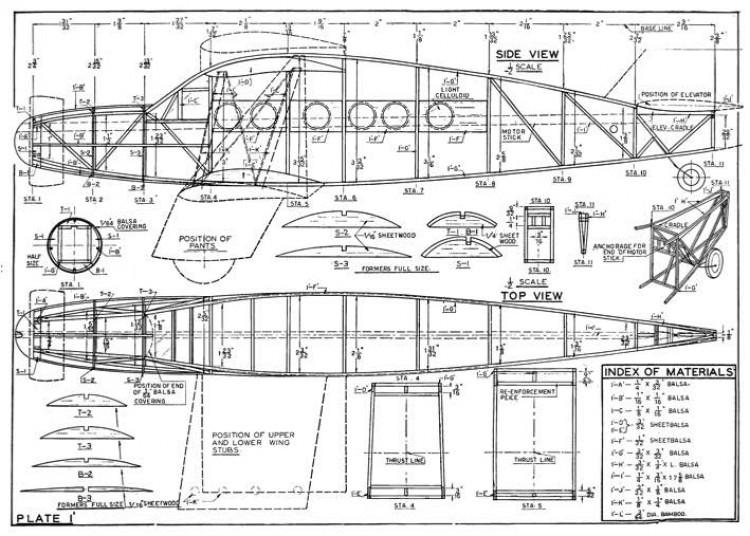 Bellanca Aircruiser model airplane plan