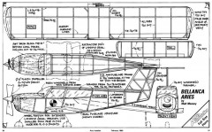 Bellanca Aries model airplane plan