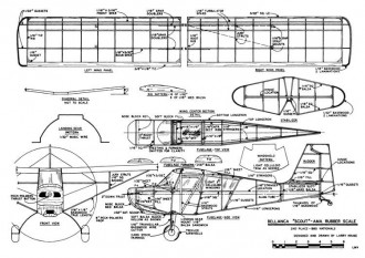 Bellanca Scout model airplane plan