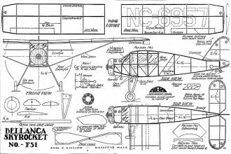 Bellanca Skyrocket F-51 cleaned model airplane plan
