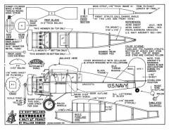 Bellanca Skyrocket US Navy 13in model airplane plan