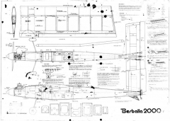 Berballa 2000 model airplane plan