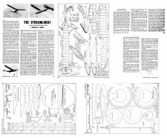 The Streamliner model airplane plan