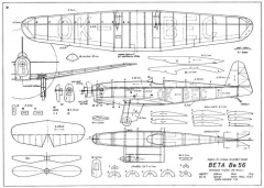 Beta Be-56 21in model airplane plan