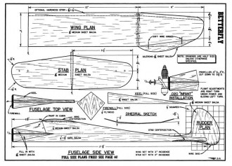 Betterfly model airplane plan