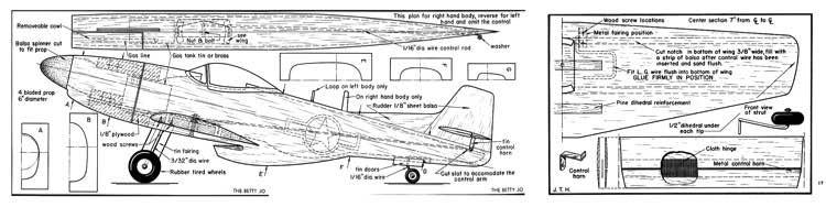 Betty Jo model airplane plan