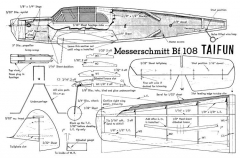 Bf 108 model airplane plan