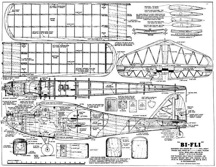 Bi-Fli model airplane plan